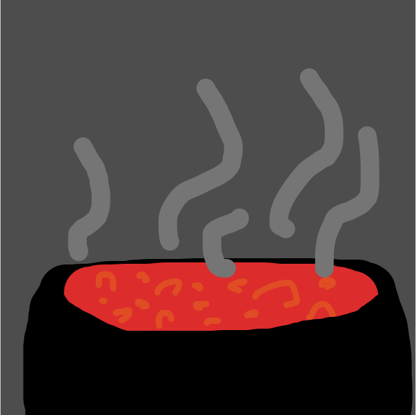It supposed to be lava, but i guess it's soup - Online Drawing Game Comic Strip Panel by Nejt