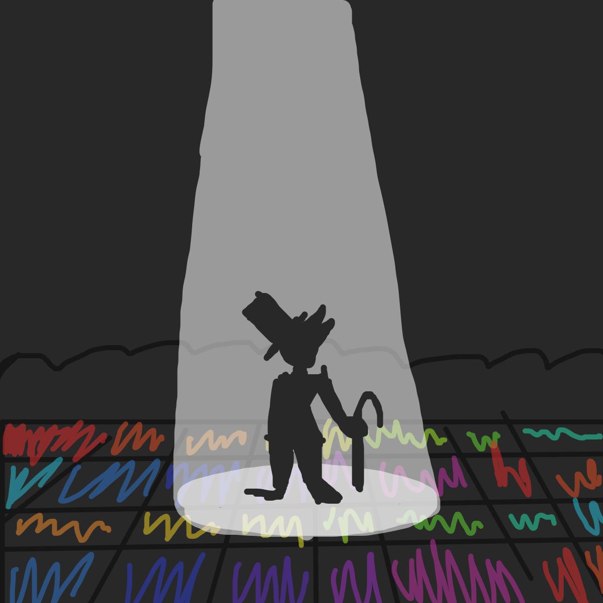 Drawing in Panic! Dancefloor Fever by LizardPie34
