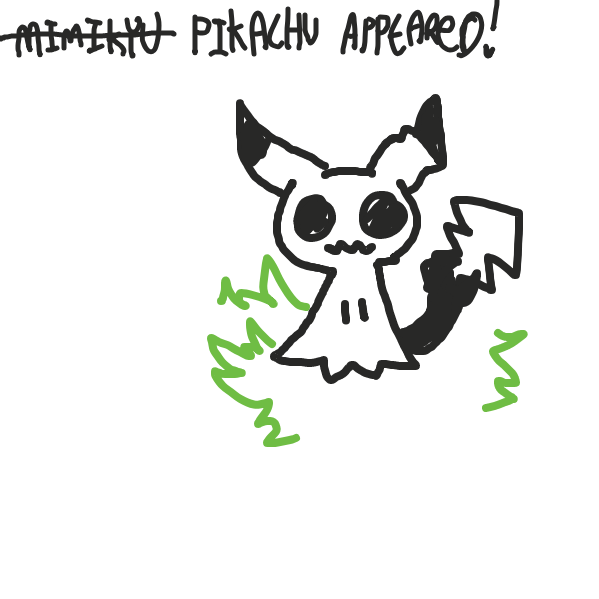 Drawing in Let's get pikachu by pastelgoosey