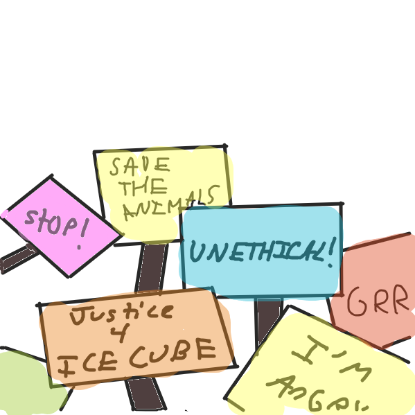 Protests have occured  (the paint bucket tool wasn't working :() - Online Drawing Game Comic Strip Panel by SoupDuck