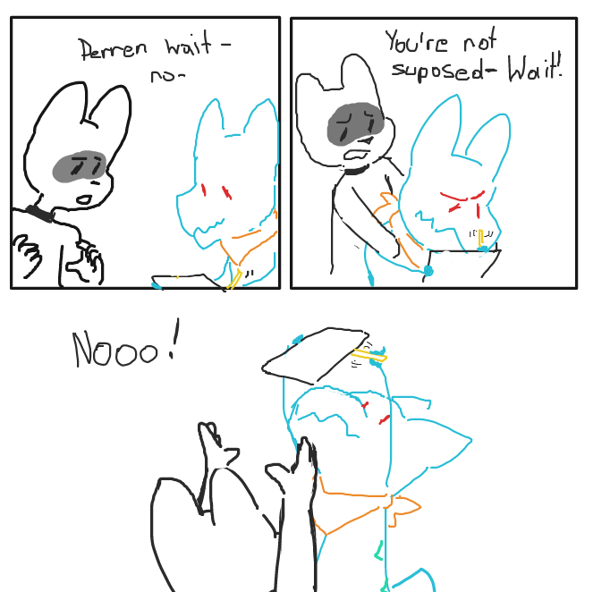 Welp glad that's settled! - Online Drawing Game Comic Strip Panel by SluggishFella