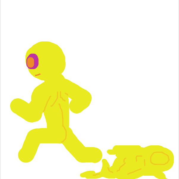 Drawing in GET NAKED AND RUN LMAO by Nejt