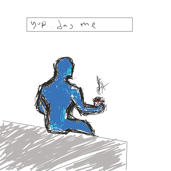 First panel in the man on the ledge drawn in our free online drawing game