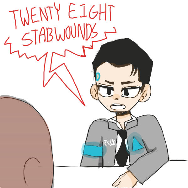 Drawing in TWENTY EIGHT STABWOUNDS by pastelgoosey