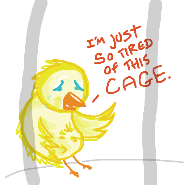 poor birdy wants to fly - Online Drawing Game Comic Strip Panel by jamdaddy