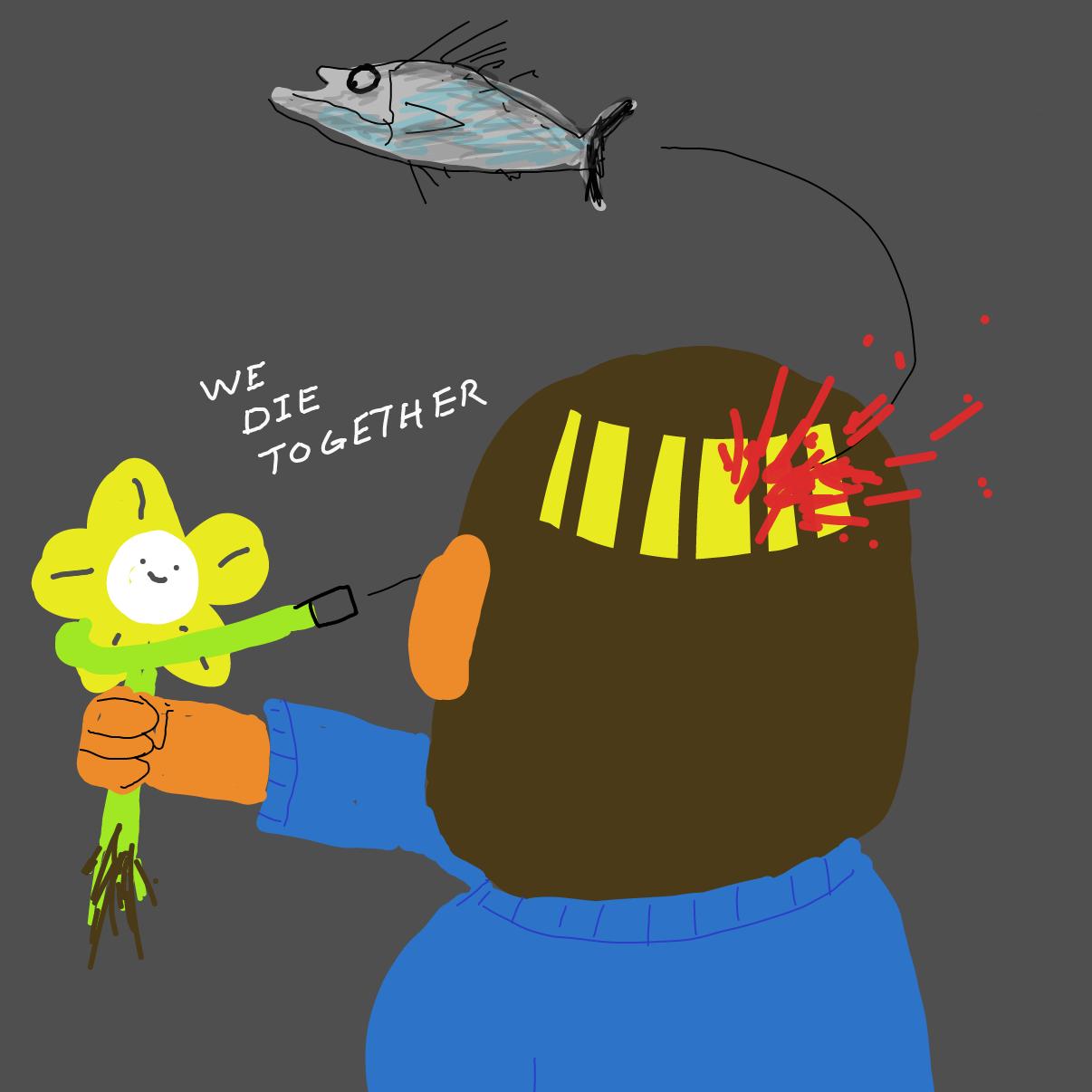 Drawing in Flowey by Potato Man