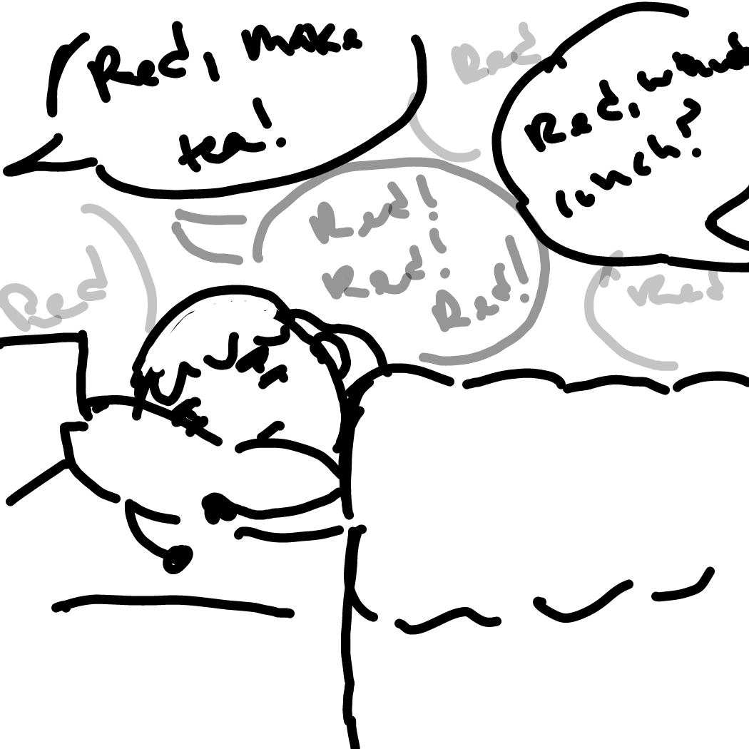 First panel in Morning drawn in our free online drawing game