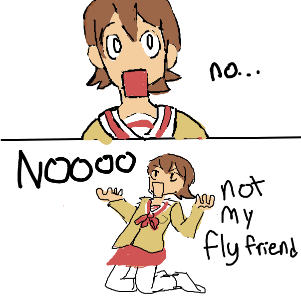 Drawing in Nichijou by M RHIIIIIIDLEY