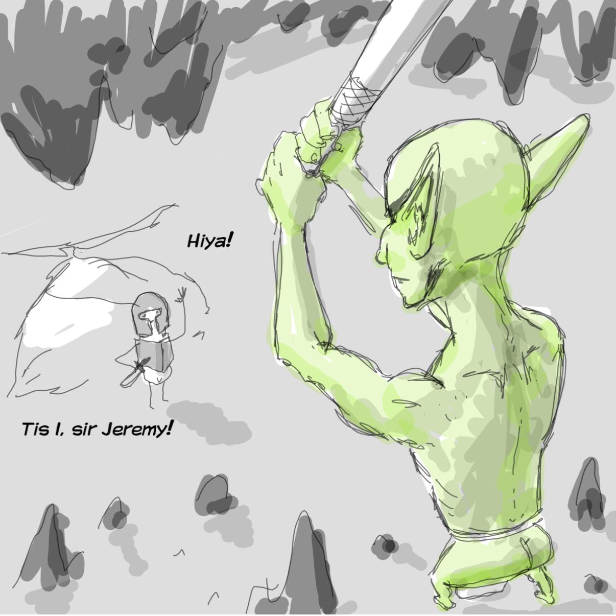 Drawing in Goblin by Potato Man