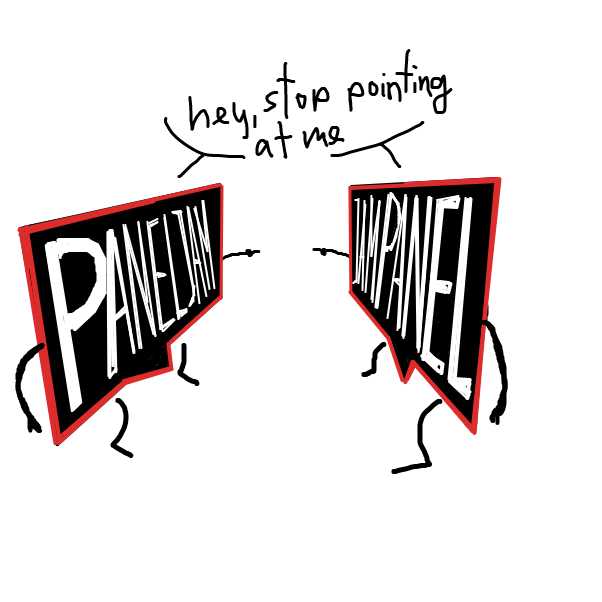 First panel in Mirror Clone drawn in our free online drawing game