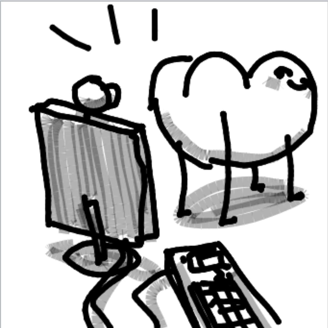 Drawing in The Subscriber by Potato Man