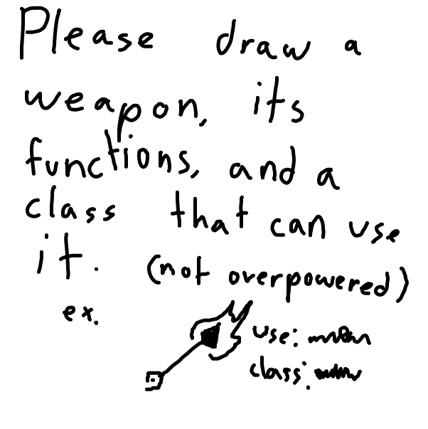 First panel in Guys, can you draw some cool weapons? drawn in our free online drawing game
