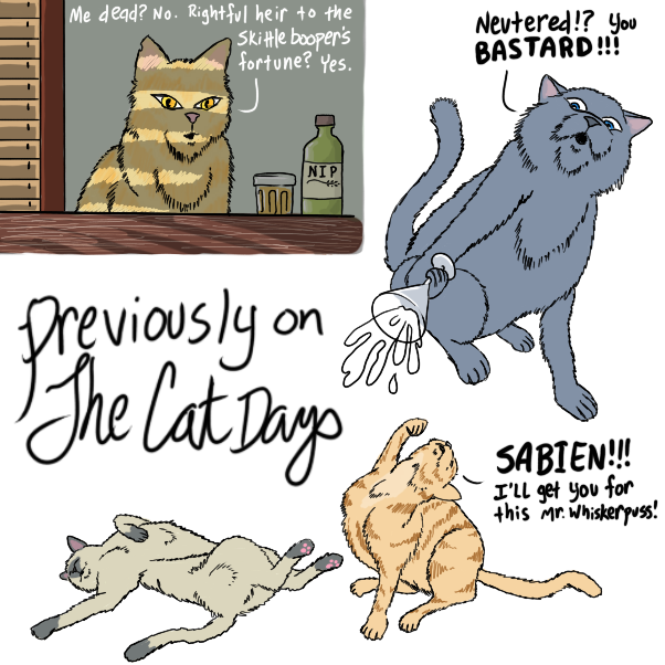 Drawing in The cat days by WizardCroissant