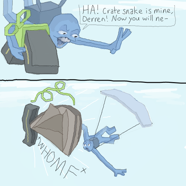 baa baah- ba da babada bah baaaa- *di di dip de dip* Tentsnake midair deploy!!!!!  - Online Drawing Game Comic Strip Panel by Chepley