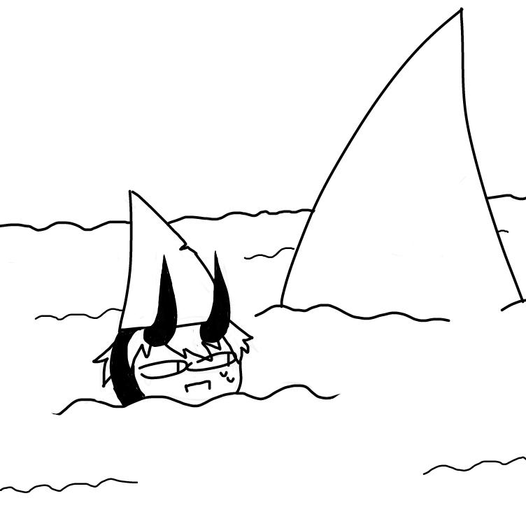 Drawing in Swim by SSR scorpia