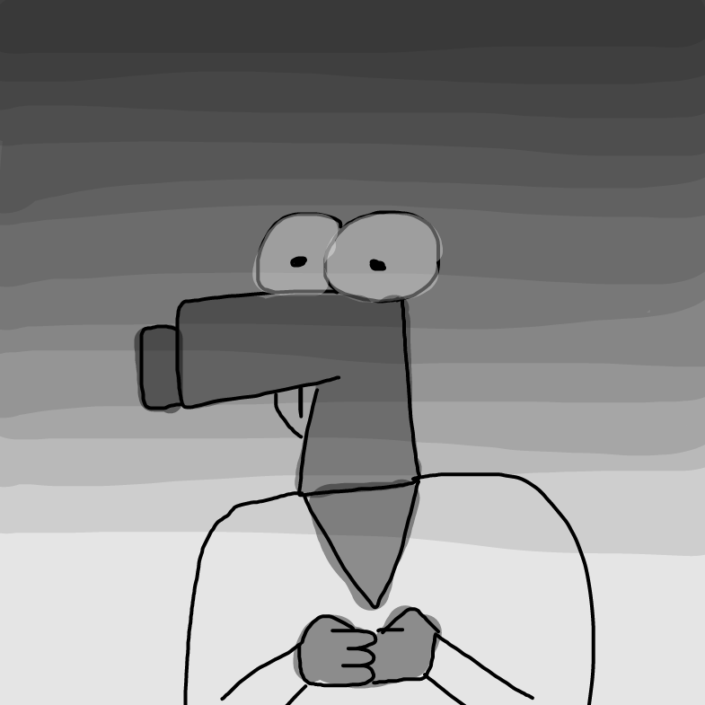 Gun face - Online Drawing Game Comic Strip Panel by TheHappiest