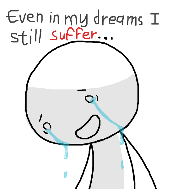 Drawing in God I feel so sad by SeanTrunks