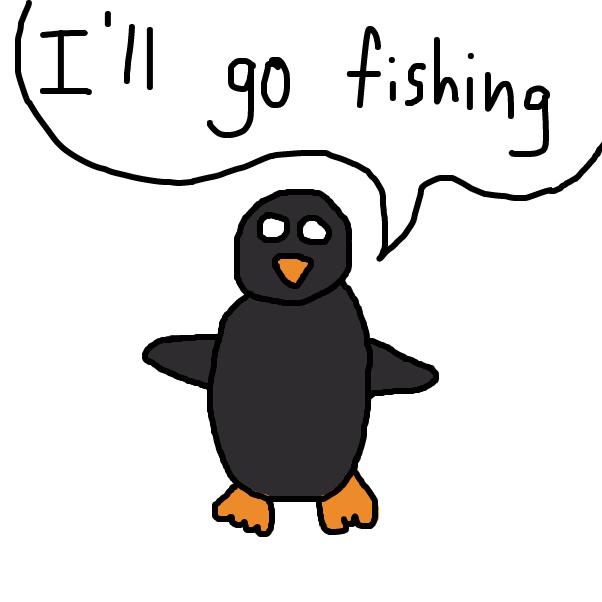 Drawing in Preston Penguin by SteliosPapas