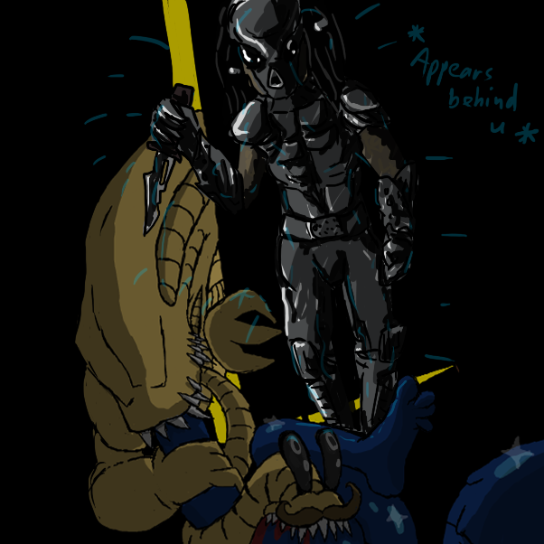 idk how predator looks like :p - Online Drawing Game Comic Strip Panel by Robro