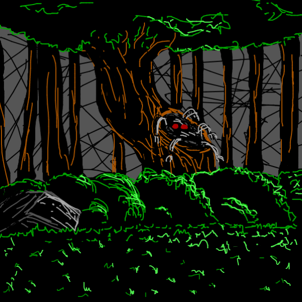 Drawing in hoods in da woods by Robro