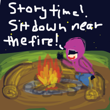 Drawing in Story time  by SpaceMuse