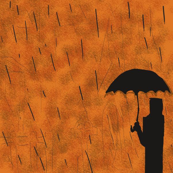 Drawing in Rain by Robro