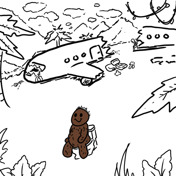 Drawing in Gregory Gorilla by WizardCroissant