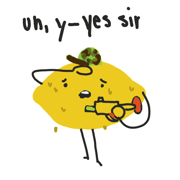 Drawing in Fruit warfare by Q