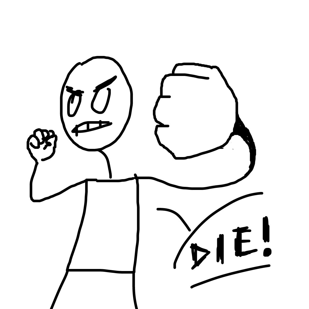 Drawing in die! by dribblio