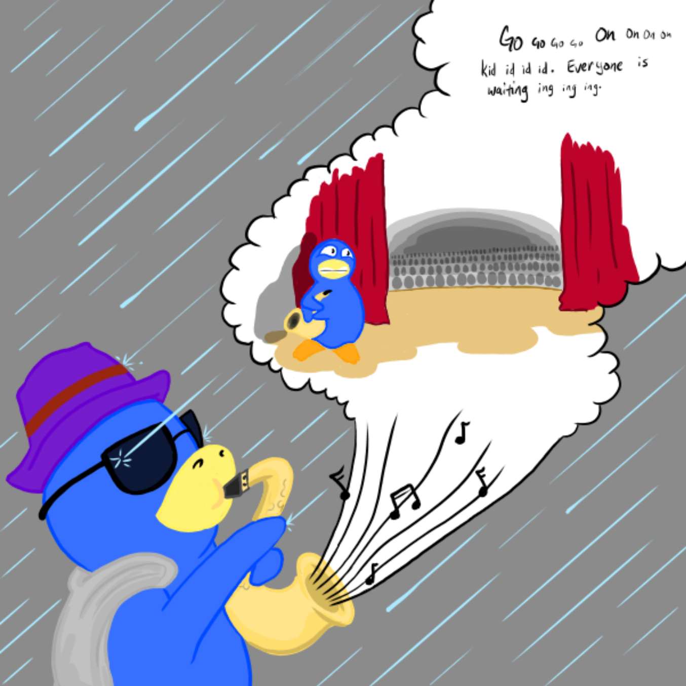Drawing in Lets Jam by WizardCroissant