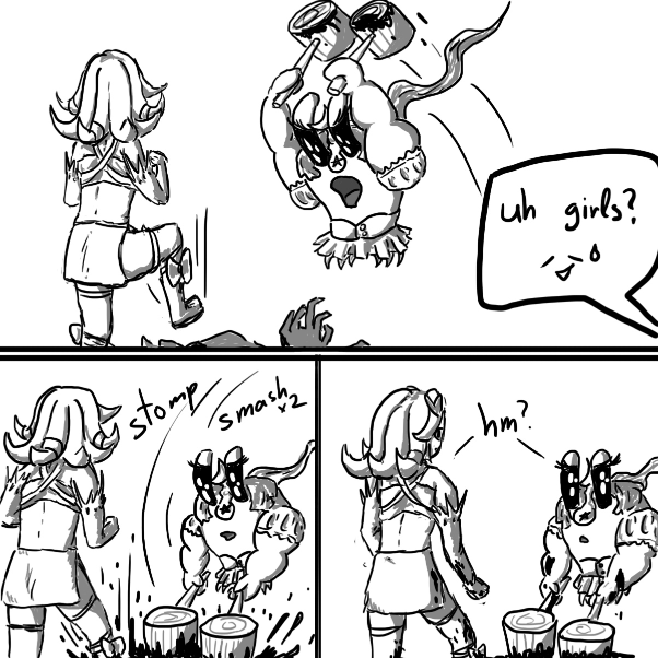 Drawing in The Magical Girls Fight A Zombie by Robro