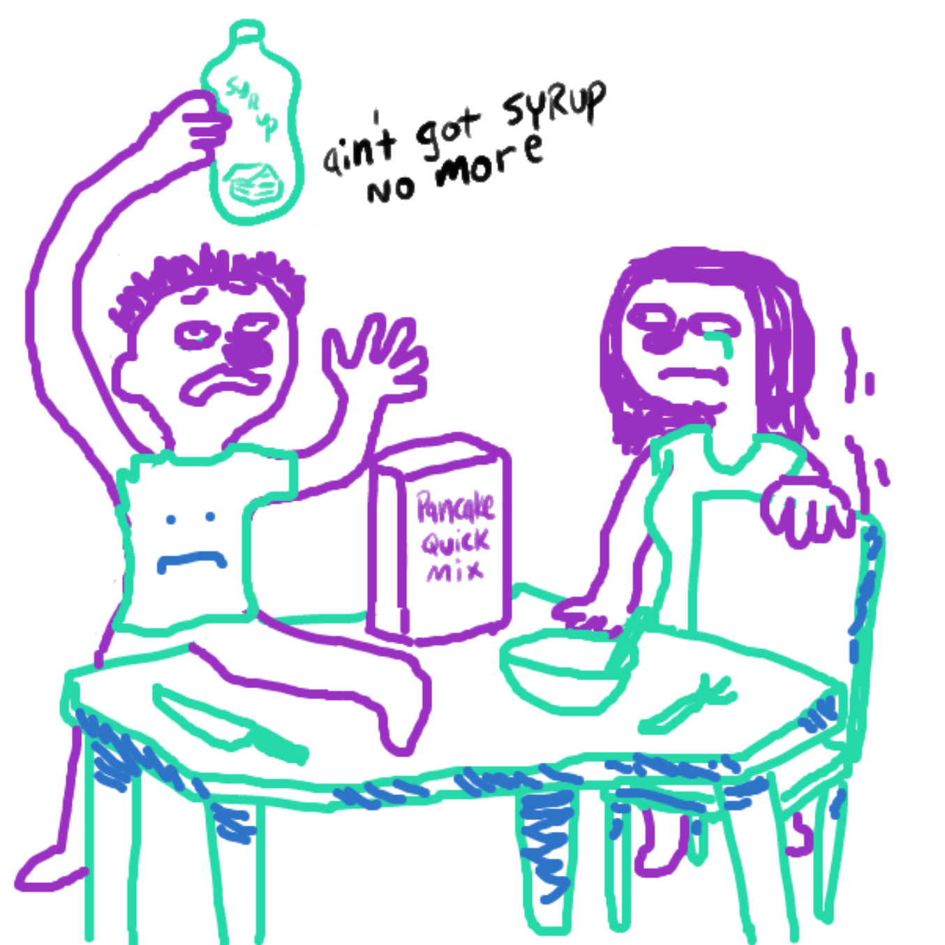 """Drawing in """"And Then The Self Insert Saves The Day!! :D"""" Agai by WizardCroissant"""