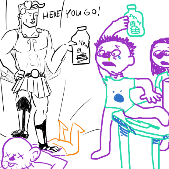 """Drawing in """"And Then The Self Insert Saves The Day!! :D"""" Agai by Robro"""