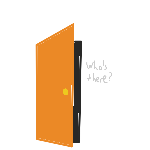 Who's there? - Online Drawing Game Comic Strip Panel by PisuCat
