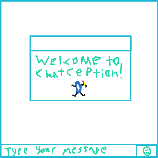 They decided to go to drawception chat - Online Drawing Game Comic Strip Panel by Mr. Mint