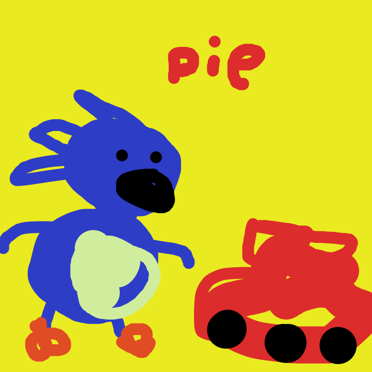 Drawing in Sanic meets Kerchoo by nooz