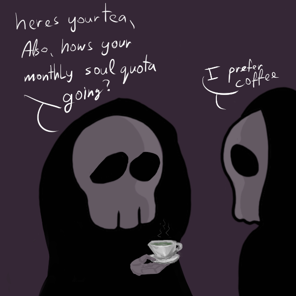 Drawing in The deaths tea parry by Robro