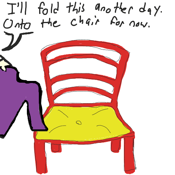 we all have that one chair - Online Drawing Game Comic Strip Panel by SoupDuck