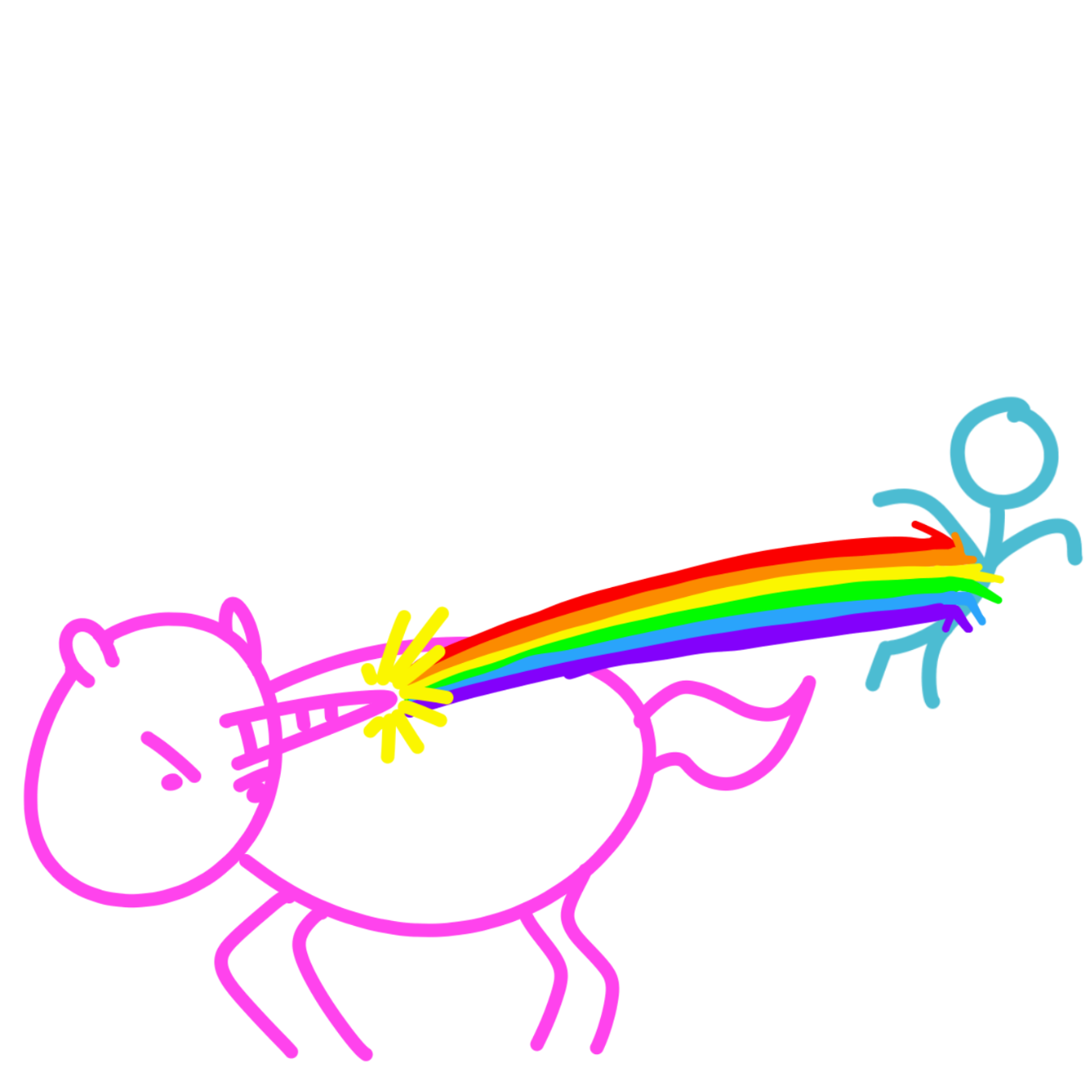 Drawing in unicorn by WizardCroissant