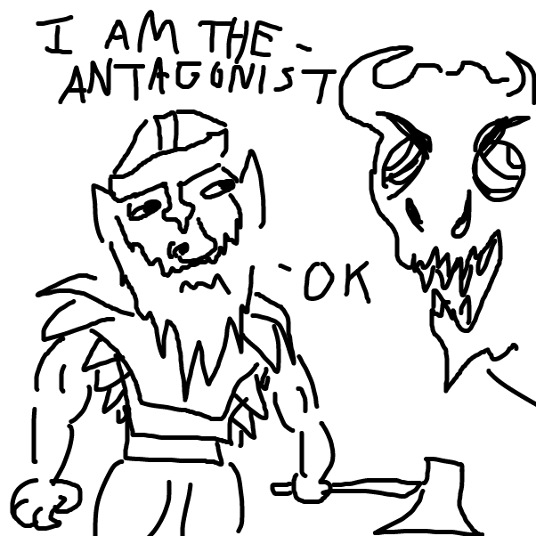 Drawing in Choose Your Own Adventure IDGAF by JiveViking