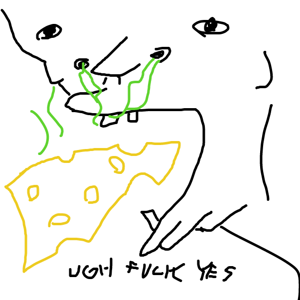 Drawing in cheese by JiveViking