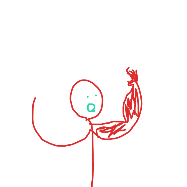 First panel in stik drawn in our free online drawing game