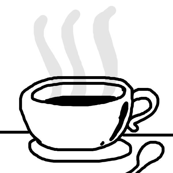 First panel in Hot Cup of drawn in our free online drawing game