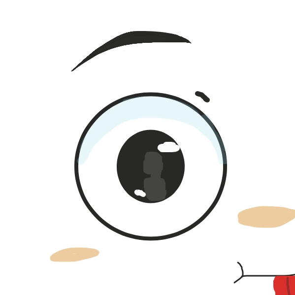 Staring contest activiated?  - Online Drawing Game Comic Strip Panel by Pupsicle