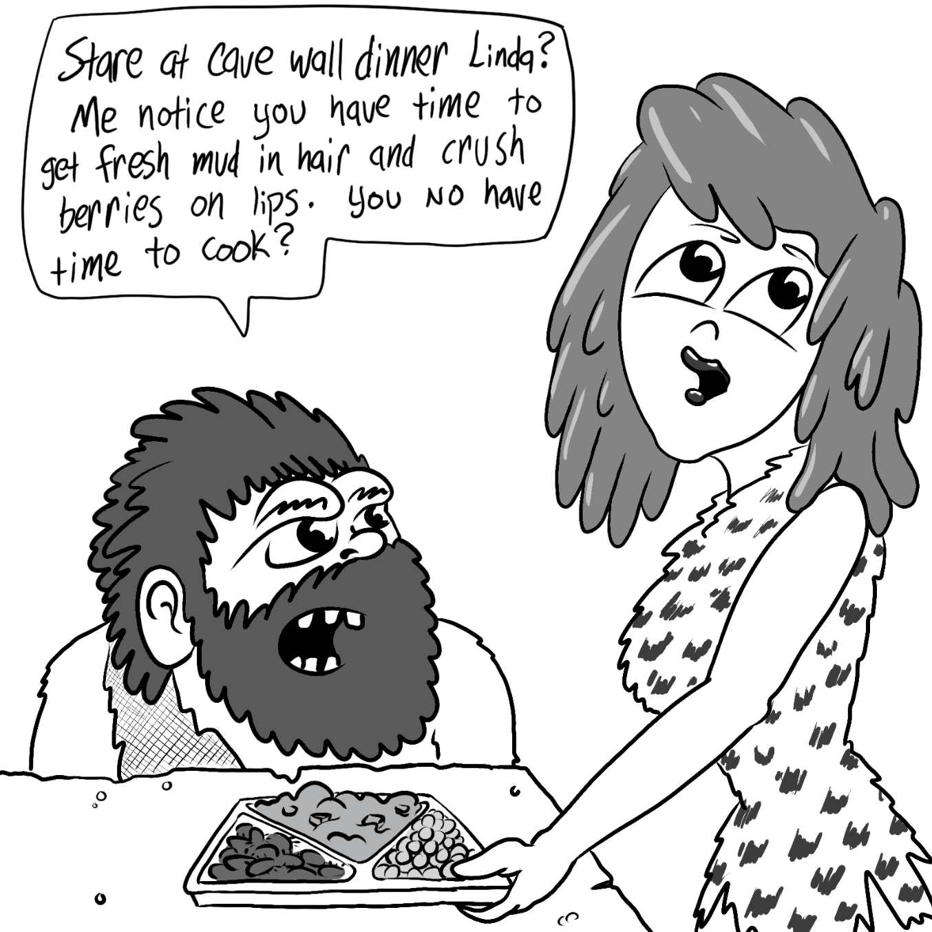 Drawing in Stay At Cave Wife by Vinz Clortho