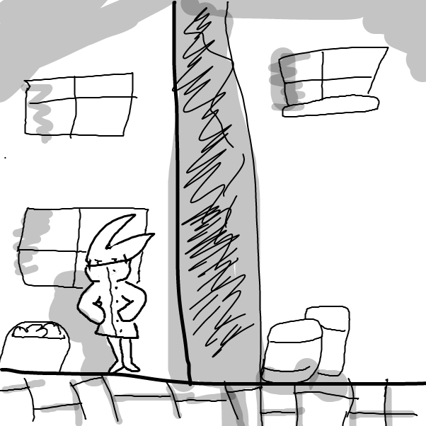 First panel in thief drawn in our free online drawing game