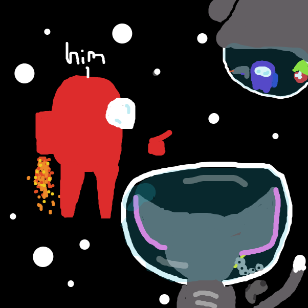 Oh lets team up and end him :3 - Online Drawing Game Comic Strip Panel by DoodleBug
