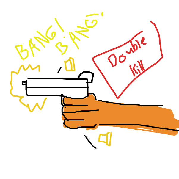 Double Kill! - Online Drawing Game Comic Strip Panel by FruitGUMMY