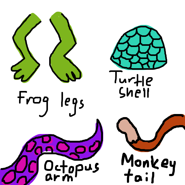 Drawing in Various body parts of animals by SteliosPapas