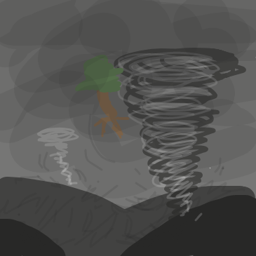Drawing in Tornado by Pupsicle